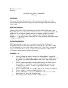European Union And Its Organizations Lesson Plan