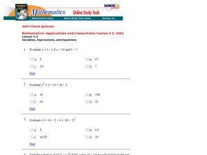 Evaluating Functions Worksheet