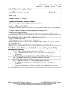 Evaluating Transcripts Lesson Plan