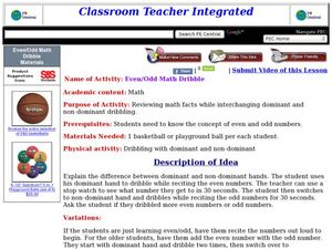 Even/Odd Math Dribble Lesson Plan