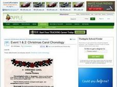 Event 1 & 2: Christmas Carol Chonology Lesson Plan