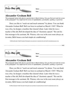 Every Day Edit - Alexander Graham Bell Lesson Plan