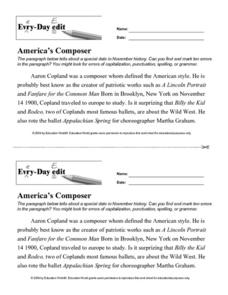 Every Day Edit - America's Composer Lesson Plan