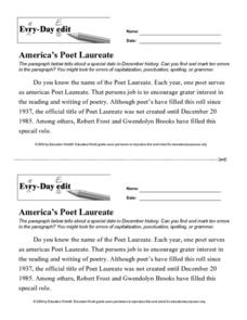 Every Day Edit - America's Poet Laureate Lesson Plan