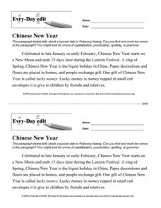Every Day Edit - Chinese New Year Worksheet