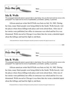 Every-day Edit: Ida B. Wells Worksheet