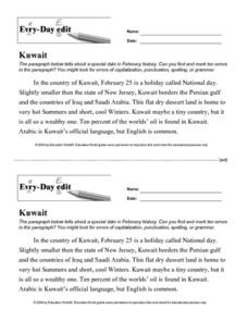 Every Day Edit - Kuwait Lesson Plan
