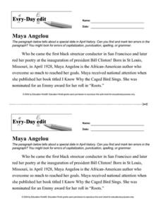 math worksheet : maya angelou math worksheet answers  educational math activities : Mayan Math Worksheet