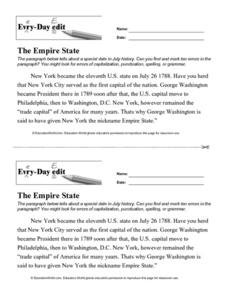Every Day Edit - The Empire State Lesson Plan