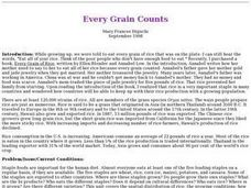 Every Grain Counts Lesson Plan