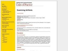 Examining Artifacts Lesson Plan