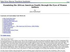 Examining the African American Family through the Eyes of Women Authors Lesson Plan