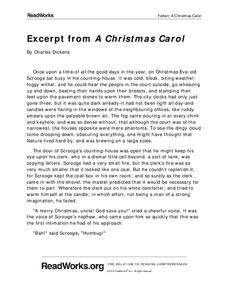 an essay about a christmas carol