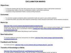 Exclamation Marks Lesson Plan