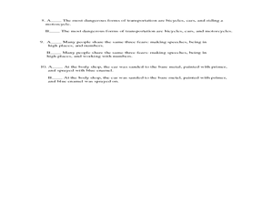 Worksheet Parallel Structure Worksheet exercise on parallel structure 7th 9th grade worksheet lesson structure