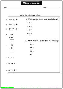 Exercises - Solve The Problems Worksheet