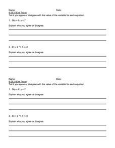 exit ticket 6 ee 5 5th 6th grade worksheet lesson planet. Black Bedroom Furniture Sets. Home Design Ideas
