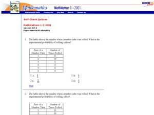 Experimental Probability Worksheet