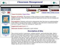 Expert Pins Lesson Plan