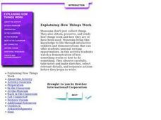 Explaining How Things Work Lesson Plan