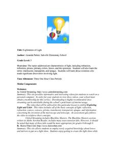 Exploration of Light Lesson Plan