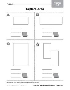 Explore Area practice 11.5 Worksheet