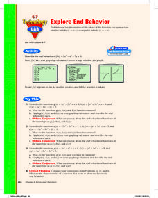 Explore End Behavior Lesson Plan