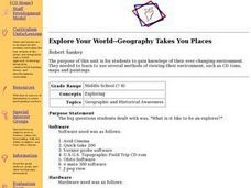 Explore Your World--Geography Takes You Places Lesson Plan