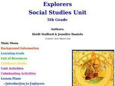 Explorers Unit Lesson Plan