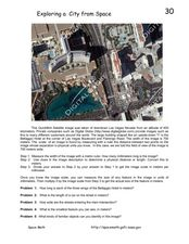 Exploring a City from Space Worksheet