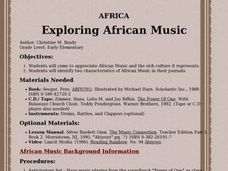 Exploring African Music Lesson Plan