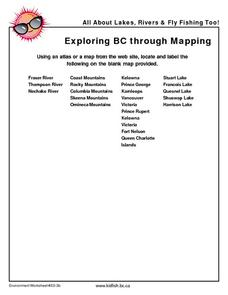 Exploring BC Through Mapping Worksheet
