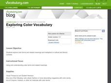Exploring Color Vocabulary Lesson Plan