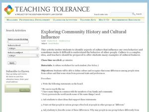 Exploring Community History and Cultural Influence Lesson Plan