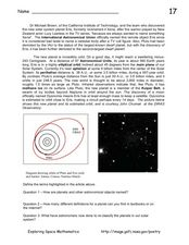 Exploring Dwarf Planet Eris Worksheet