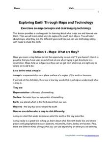 Exploring Earth Through Maps and Technology Worksheet