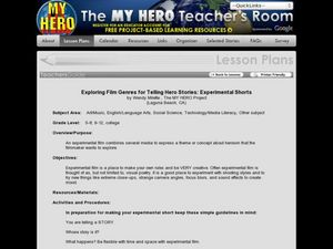 Exploring Film Genres for Telling Hero Stories: Experimental Shorts Lesson Plan