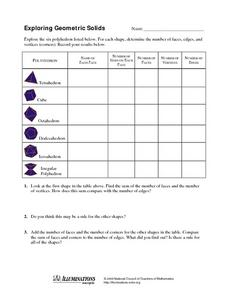 Exploring Geometric Solids Worksheet