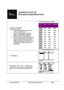 Exploring Linear Equations Lesson Plan