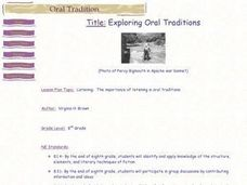 Exploring Oral Traditions Lesson Plan