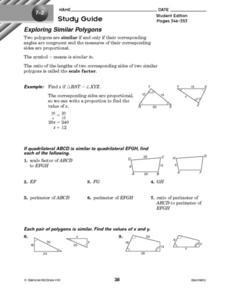Worksheet Similar Polygons Worksheet exploring similar polygons 10th grade worksheet lesson planet worksheet