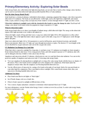 Exploring Solar Beads Lesson Plan