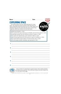 Exploring Space Lesson Plan