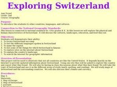 Exploring Switzerland Lesson Plan