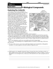 Exploring the Antarctic Worksheet