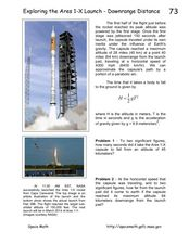 Exploring the Ares 1-X Launch-Downrange Distance Worksheet