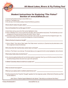 "Exploring ""The Fishes"" Worksheet"