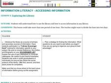 Exploring the Library Lesson Plan