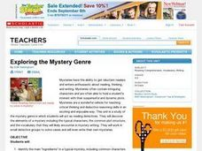 Exploring the Mystery Genre Lesson Plan