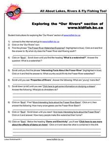 "Exploring the ""Our Rivers"" Section Worksheet"